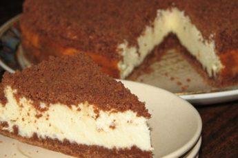 Творожный «торфяной» пирог для быстрых хозяек за 5 минут