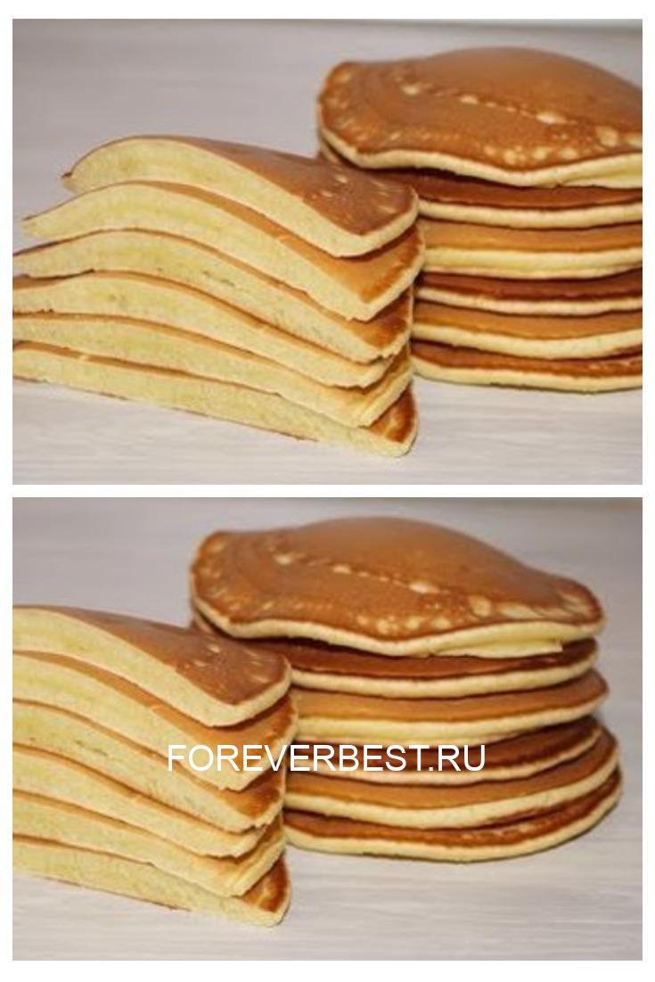 Чудесный завтрак — пышные панкейки на молоке