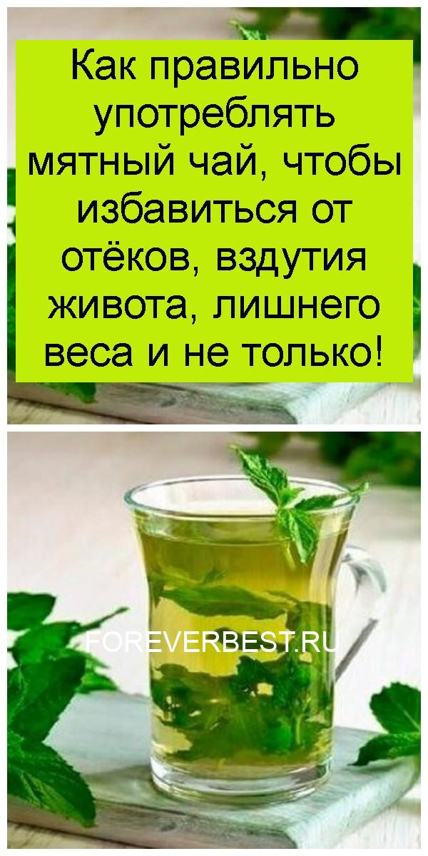 Как правильно употреблять мятный чай, чтобы избавиться от отёков, вздутия живота, лишнего веса и не только 4