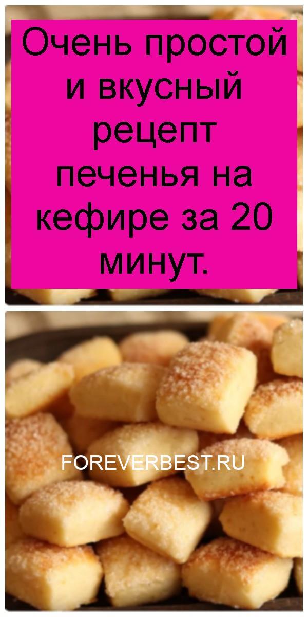 Очень простой и вкусный рецепт печенья на кефире за 20 минут 4